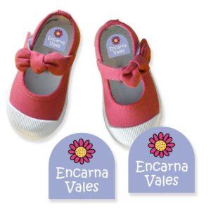 Etiquetas para marcar zapatos clásicas