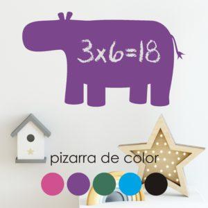 Vinilo pizarra Hipopótamo-0