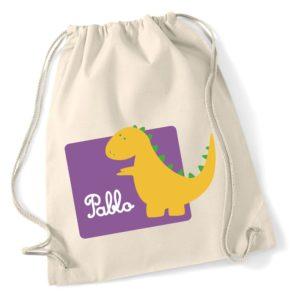 Mochila de algodón Dinosaurio Amarillo-0