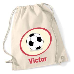 Mochila de algodón Pelota de Fútbol-0