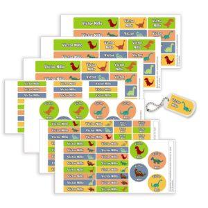 Pack Etiquetas Campamento Dinosaurios-0
