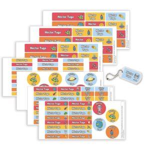Pack Etiquetas Campamento Espacio-0