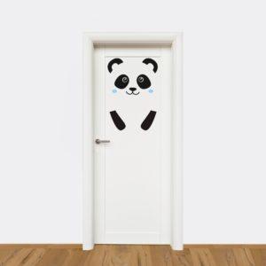 Vinilo para puerta Oso panda-0