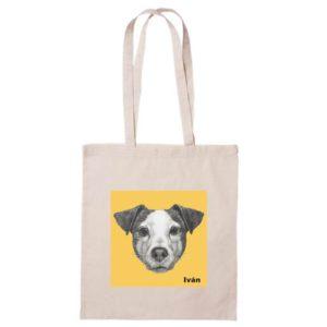 Bolsa de algodón Jack el perro-0