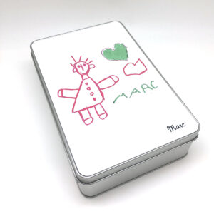 Cajita personalizada con dibujo de tu hijo