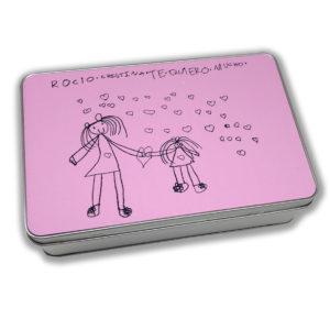 Caja metálica con el dibujo de tu hij@-0