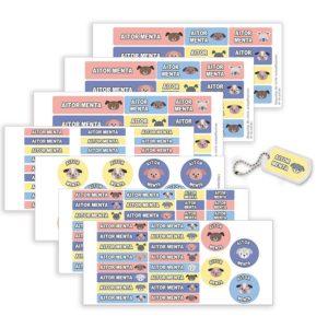 Pack Etiquetas Campamento Perritos-0