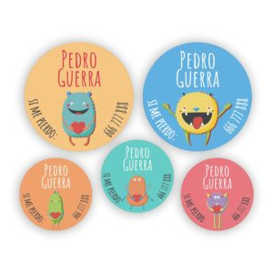 Pack de chapas Monsters-0