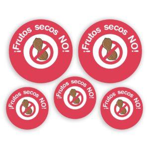 Pack de chapas Alergia FRUTOS SECOS-0