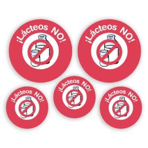 Pack de chapas Alergia LÁCTEOS-0