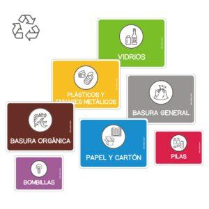 Etiquetas para reciclaje de basura-0