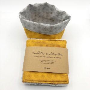 toallitas desmaquillantes reutilizables